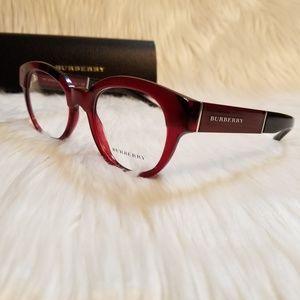 c52843e88393 Burberry Accessories - Burberry Rx Eyeglass Burgundy Top Optical Frame